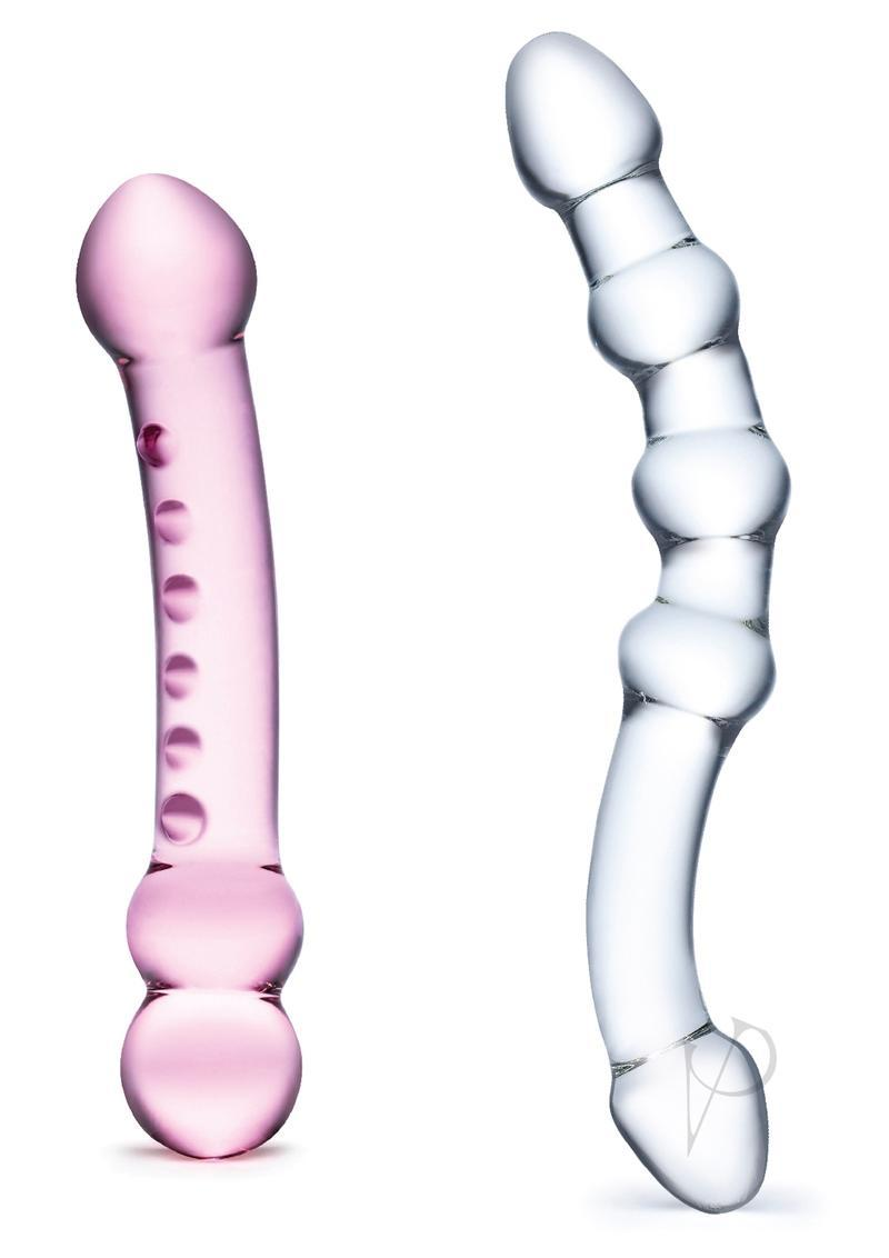 Double Pleasure Glass Dildo Set 2pc